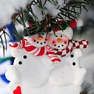 Snowmen Christmas ornament by Elena Elisseeva