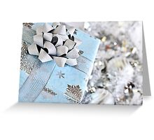 Christmas gift box Greeting Card