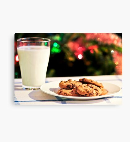Milk and cookies for Santa Canvas Print