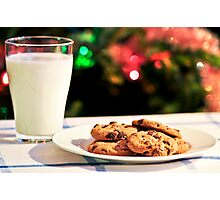 Milk and cookies for Santa Photographic Print
