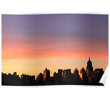 Sunset Glow, NYC Poster