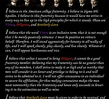 Sigma Phi Epsilon - SigEp Creed Poster by GREEKTEES