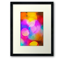 Blurred Christmas lights Framed Print