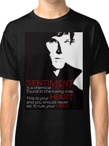 Sherlock BBC Sentiment Sticker Classic T-Shirt
