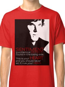 Sherlock BBC Sentiment Sticker Classic T-Shirt
