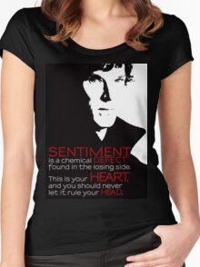 Sherlock BBC Sentiment Sticker Women's Fitted Scoop T-Shirt