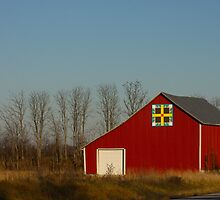 Red Barn in Indiana by Kent Nickell