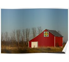 Red Barn in Indiana Poster