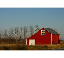 Red Barn in Indiana Photographic Print