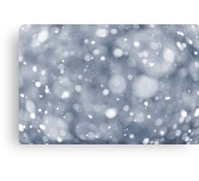 Snowfall background Canvas Print
