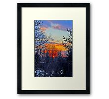 November Sunset Framed Print