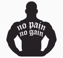 Bodybuilder No Pain No Gain Tattoo by Style-O-Mat