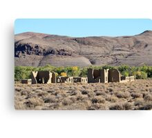 Fort Churchill Ruins, Silver Springs Nevada USA Canvas Print