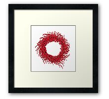 Red Christmas wreath Framed Print