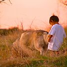 A Boy and His Dog by Barbara  Brown