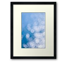 Blue and white background Framed Print