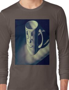 Cup Faced. Long Sleeve T-Shirt