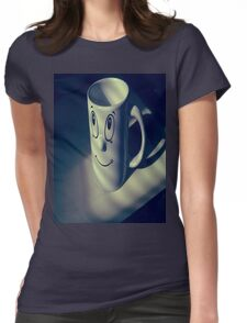 Cup Faced. Womens Fitted T-Shirt