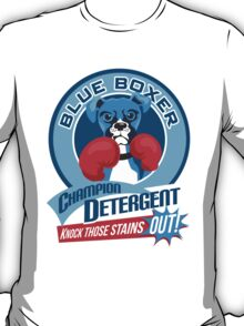 Blue Boxer Champion Detergent Retro T-shirt- original art T-Shirt