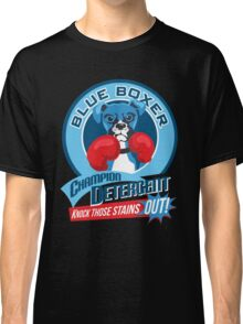 Blue Boxer Champion Detergent Retro T-shirt- original art Classic T-Shirt