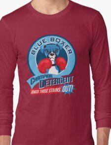 Blue Boxer Champion Detergent Retro T-shirt- original art Long Sleeve T-Shirt
