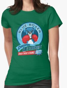Blue Boxer Champion Detergent Retro T-shirt- original art Womens Fitted T-Shirt