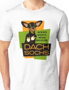 Happy Dachshund in Socks Retro T-shirt- original art Unisex T-Shirt