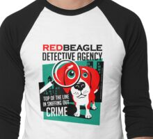 Red Beagle Detective Agency Retro T-shirt- original art Men's Baseball ¾ T-Shirt
