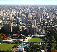 Down Town Buenos Aries Aerial  by Carole-Anne