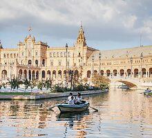 Boating in Plaza de Espana - Seville by Robert Kelch, M.D.