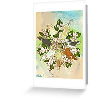 Bright Spring Rat King Greeting Card