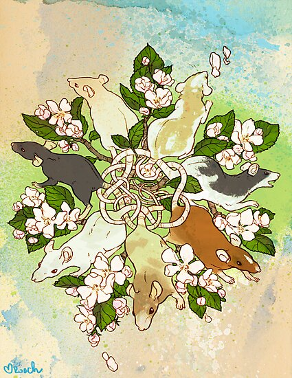 Bright Spring Rat King by RachelRoach