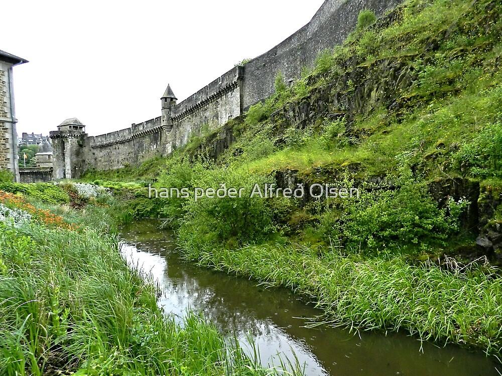 The Moat of Fougere Castle  by hans p olsen