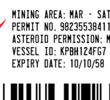 Asteroid Mining Permit Sticker