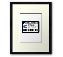 Asteroid Mining Permit Framed Print