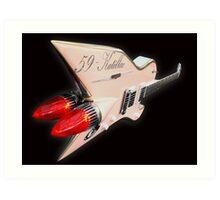 1959 Aluminium Cadillac Guitar Art Print
