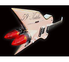1959 Aluminium Cadillac Guitar Photographic Print