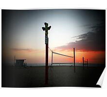 California Sunset Hermosa Poster