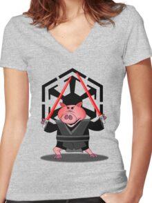 Revenge of the Bacon Women's Fitted V-Neck T-Shirt
