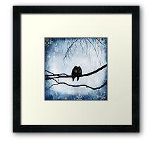 Winter love Framed Print
