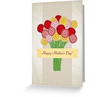 Rose Bouquet Illustration - Mother's Day Greeting Card