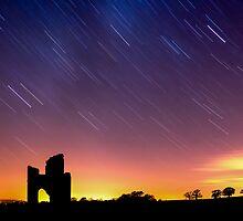 Star Trails over Ditcheat Hill by Robbie Labanowski