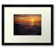 End of Autumn Sunset Framed Print