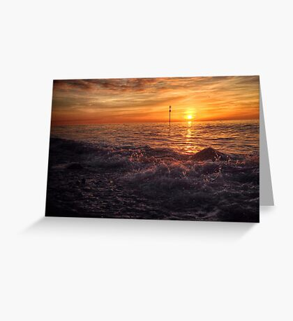 End of Autumn Sunset Greeting Card