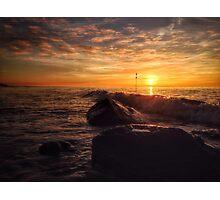 Orange Horizon Photographic Print