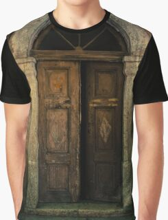 Old wooden doors and nice arch Graphic T-Shirt