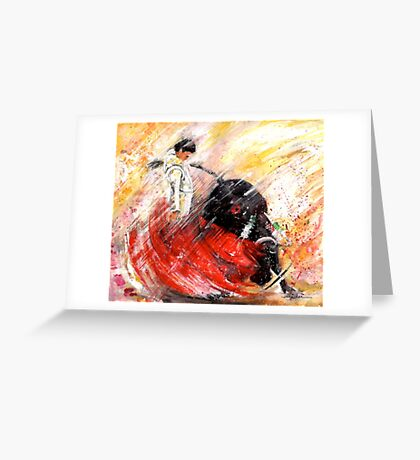 Passion And Motion Greeting Card