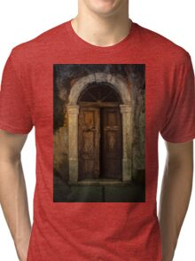Old wooden doors and nice arch Tri-blend T-Shirt