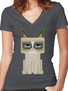 Grumpy Women's Fitted V-Neck T-Shirt