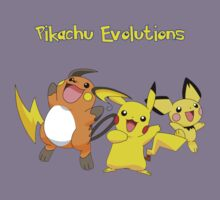 Pikachu evolutions by jonath1991